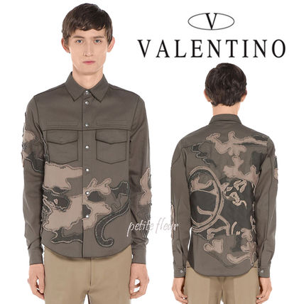 VALENTINO 2017 SS * Panther embroidery shirt