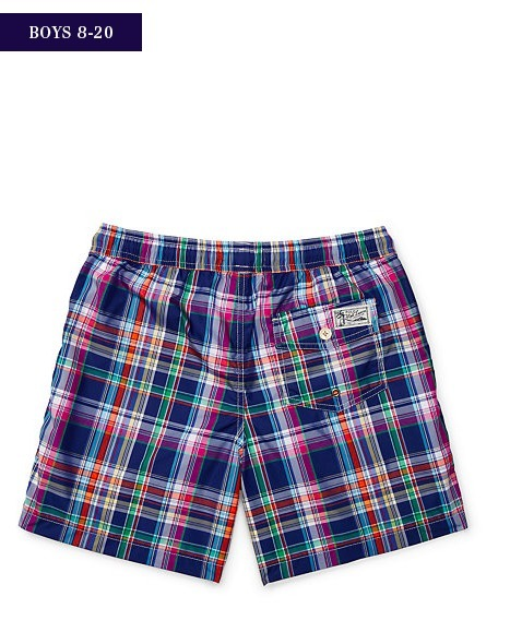 新作♪国内発送 TRAVELER PLAID SWIM TRUNK boys 8~20