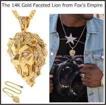 Tyga愛用ブランド[King Ice]14K Faceted Lion Necklace/送料税込