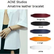 ACNE Amatrine M leather bracelet レザーブレスレット5色