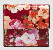 GUCCI  blooms 花柄 フレンチフラップ レザー折財布★国内発送