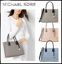 MICHAEL KORS★MERCER LARGE LEATHER TOTE TRY-TONE  国内発送