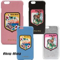 VIPセール☆関税込【MIUMIU】Iphone6 plus ケース,4色