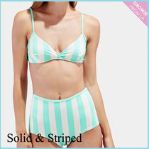 【SOLID & STRIPED】新作☆ハイウエストボーダー ビキニセット☆