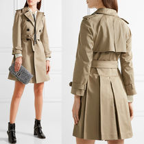 MM227 COTTON GABARDINE TRENCH COAT WITH PLEATED HEM