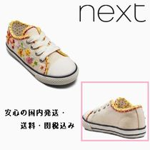 Ecru Embroidered Low Top Trainers♪