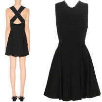 MM233 SLEEVELESS FLARE DRESS WITH CRISS-CROSS STRAP