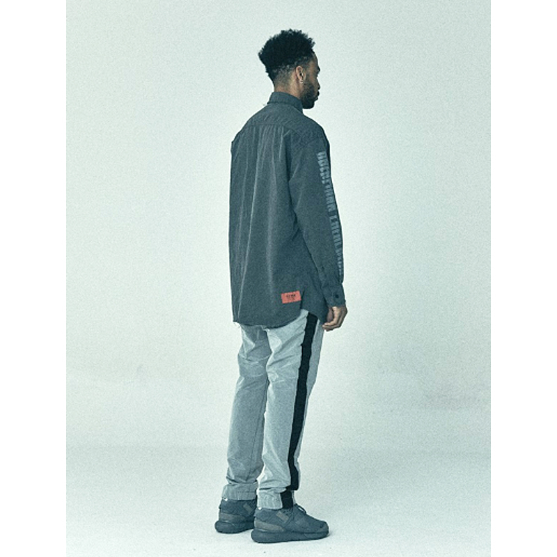 【OVERR】正規品★17SS PIGMENT ポケット シャツGRAY/追跡送料込