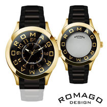 ◎ROMAGO ロマゴ ミラー文字盤腕時計 RM015-0162SS-GDBK◎