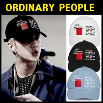 ORDINARY PEOPLE(オーディナリーピープル) キャップ EXOの着用★ORDINARY PEOPLE★ORDINARY RED STAMP CAP