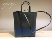 NEW【CELINE】 Small Vertical Bi-Cabas  (Kohl / Washed Blue)