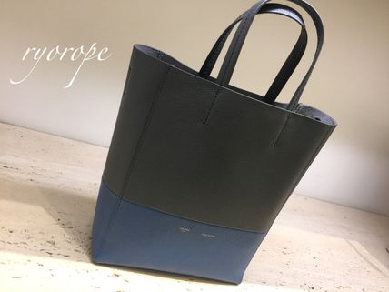 CELINE トートバッグ NEW【CELINE】 Small Vertical Bi-Cabas  (Kohl / Washed Blue)(2)