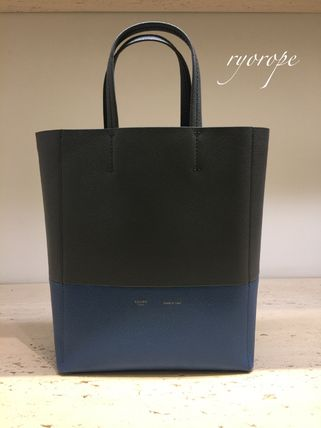CELINE トートバッグ NEW【CELINE】 Small Vertical Bi-Cabas  (Kohl / Washed Blue)(3)