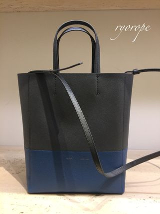 CELINE トートバッグ NEW【CELINE】 Small Vertical Bi-Cabas  (Kohl / Washed Blue)(4)