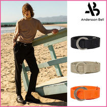 ANDERSSON BELL(アンダースンベル) ベルト 【ANDERSSON BELL】正規品★UNISEX コットンベルト★3色/追跡付