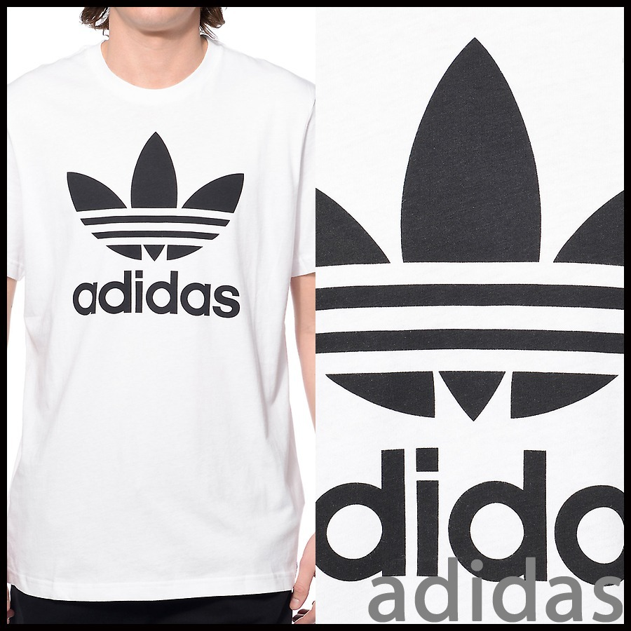 関税込 adidas Originals Trefoil White T-Shirt Tシャツ