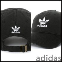 adidas Trefoil Curved Bill Black Strapback Hat キャップ
