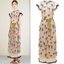17SS RV048 LOOK32 'BLOOMING GARDEN' EMBROIDERED TULLE DRESS