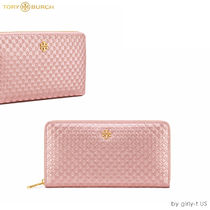 SALE☆Tory Burch☆ MARION EMBOSSED WALLET 長財布/ メタリック