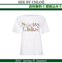 2017SS関税込★SEE BY CHLOE(シーバイクロエ)ロゴTシャツ