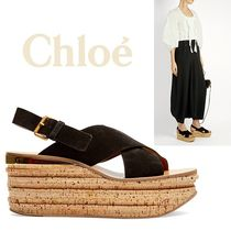 Chloe - Camille suede wedge sandals ウェッジサンダル