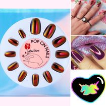 Lime Crime pop on nails ♡black magic♡