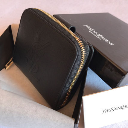 Babe in SAINT LAURENT compact bifold wallet black