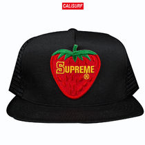SUPREME(シュプリーム)STRAWBERRY MESH BACK 5-PANEL/blk
