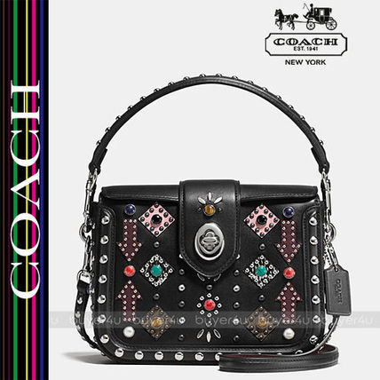 COACH★キュート☆ALLOVER WESTERN RIVETS PAGE CROSSBODY 57658