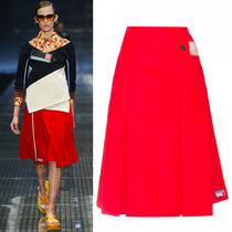 PR469 LOOK15 A-LINE WRAP SKIRT WITH VELCRO STRAP