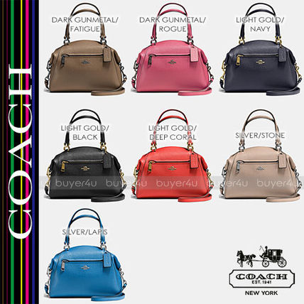 COACH★PRAIRIE SATCHEL IN POLISHED PEBBLE LEATHER 58874