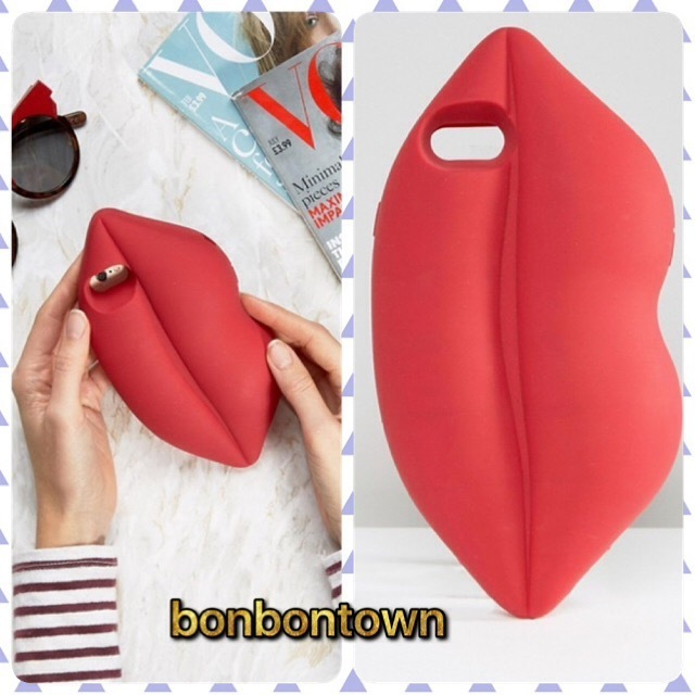 【国内発/送関込】Lulu Guinness Red Lips iPhone 7 Case