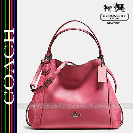 COACH★大人気☆EDIE SHOULDER BAG 28 IN MIXED LEATHERS 57645