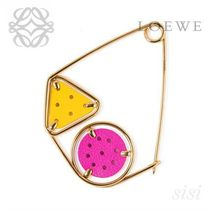 LOEWE★ロエベ Small Double Meccano Pin Lilac/Yellow/Gold