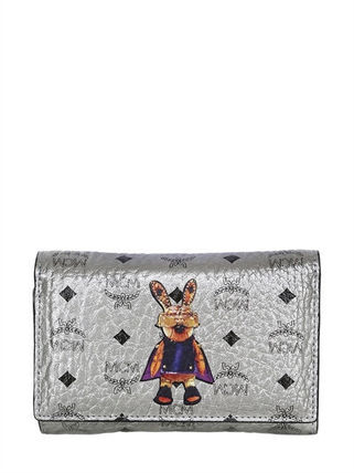 '関税込'' MCM RABBIT METALLIC FAUX LEATHER WALLET