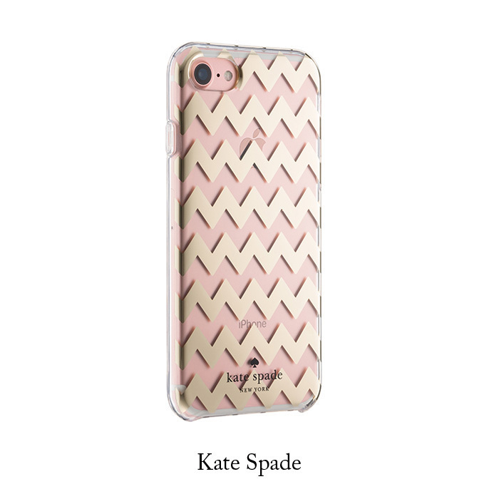 *国内在庫有* Kate Spade chevron gold foil iPhone7 ケース