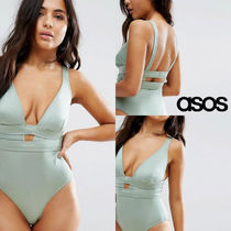 ASOS(エイソス) ワンピース水着 【国内発送 送料込】asos☆Deep Plunge ワンピース水着