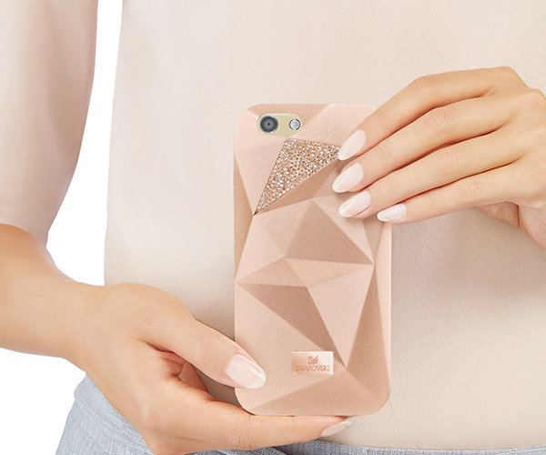 【SWAROVSKI】スワロフスキーFacets iPhone7ケース with Bumper