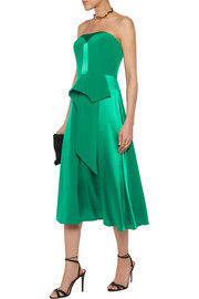 """Mikael Aghal""Draped saten and crepe dress"