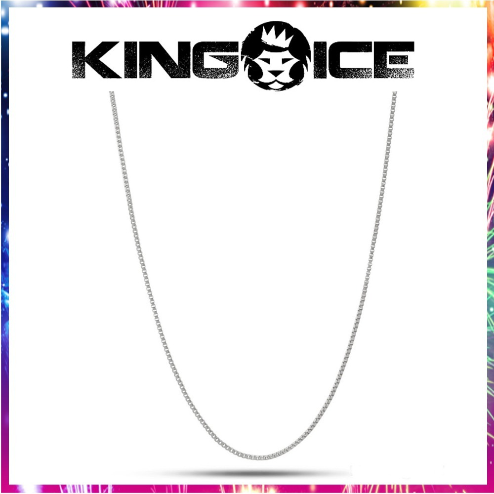 送料関税込・国内発送☆KING ICE☆1mm Silver Box Chain☆