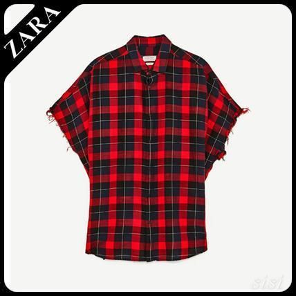 Men's ZARA big plaid shirt