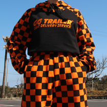 A PIECE OF CAKE(ピースオブケイク) スウェット・トレーナー ◇A PIECE OF CAKE◇17ss GGTrailer Checkerboard Hoodie_Orange