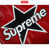 Mサイズ SUPREME/VANSON LEATHER STAR JACKET/RED