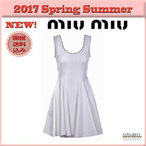 ★送料関税込★17春夏 MIU MIU flared midi dress
