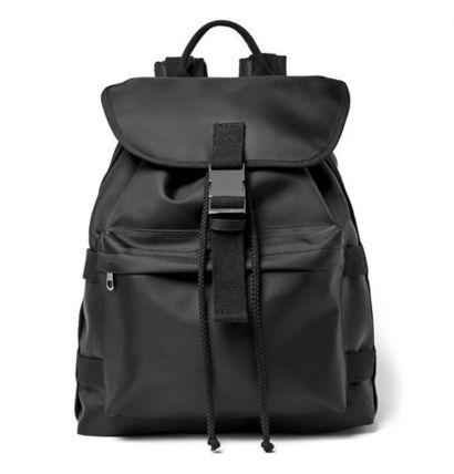 / A.P.C shell backpack black