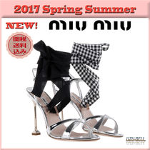 ★送料関税込★17春夏 MIU MIU laminated leather sandals