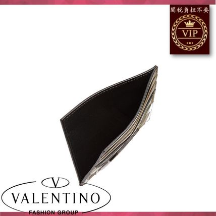 VALENTINO カードケース・名刺入れ ★2017新作★Camouflage-print leather and canvas cardholder(2)