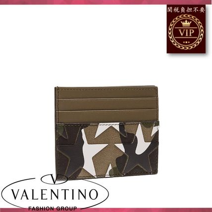 VALENTINO カードケース・名刺入れ ★2017新作★Camouflage-print leather and canvas cardholder(3)