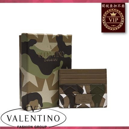 VALENTINO カードケース・名刺入れ ★2017新作★Camouflage-print leather and canvas cardholder(4)