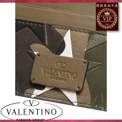 VALENTINO カードケース・名刺入れ ★2017新作★Camouflage-print leather and canvas cardholder(5)
